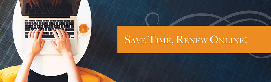 Save time, renew online